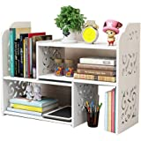 Small Bookshelf for Desktop Storage, Mini Narrow Desk White Versatility Organizers for Women, Kids, Men for Office Decor Acce