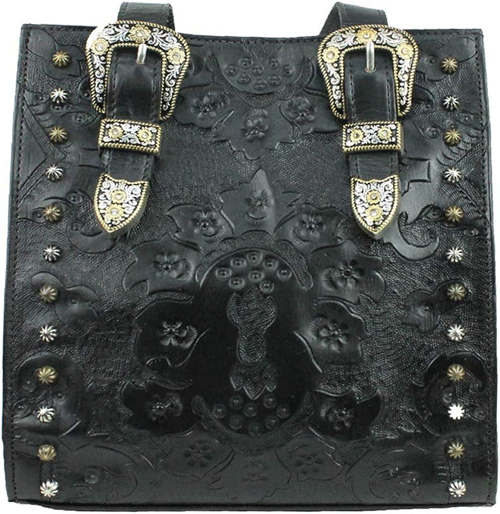 American West Leather Medium Hobo Shoulder Handbag