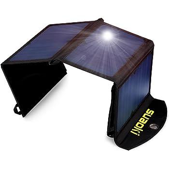 Amazon Com Suaoki 25w Solar Charger Portable Foldable