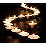 Pack of 50 - 10 Hour Long Last Burning Wax Tealight Candles by MiniSun