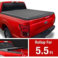Soft Roll Up Truck Bed Tonneau Cover Compatible with 2004-2008 Ford F-150; 2005-2008 Lincoln Mark LT | Styleside 5.5' Bed
