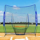 Fortress Baseball Sock Net Practice Screen | 7ft x 7ft Hitting Sock Net Screen | Practice Baseball Hitting and Pitching [Net World Sports]