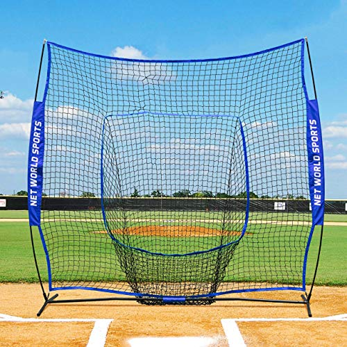 Fortress Pop-Up Sock Net Screen 7ft x 7ft Baseball Softball Training Aid