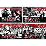 Gloom Card Game Bundle of Gloom, Unhappy Homes, Unwelcome Guests, and Unquiet Dead Second Edition