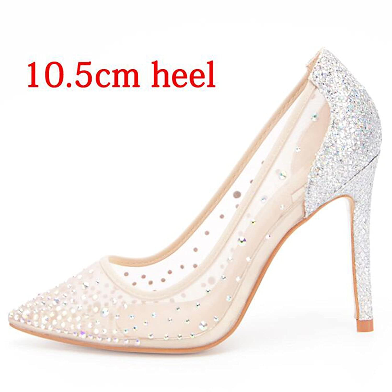 newest 84261 770d0 Gouache Crystal Women Pumps Glitter Shallow Mouth Mouth Mouth High Heels  Woman Party Wedding Shoe B07D4B5TS4 5 B(M) US 10.5cm Heel af33ba
