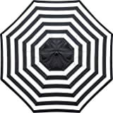 Sunnyglade 9ft Patio Umbrella Replacement Canopy Market Umbrella Top Outdoor Umbrella Canopy with 8 Ribs (Black and…
