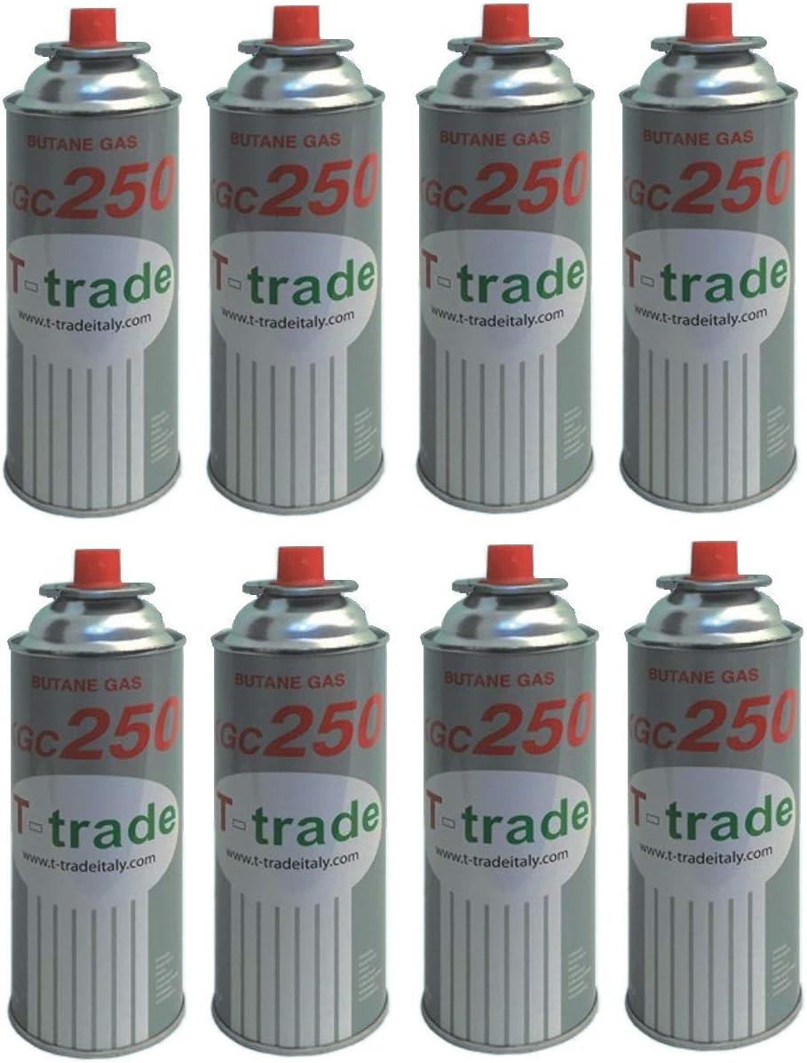 8 unidades – Cartucho Bote de gas licuado 250 gr Art. kcg250 ...