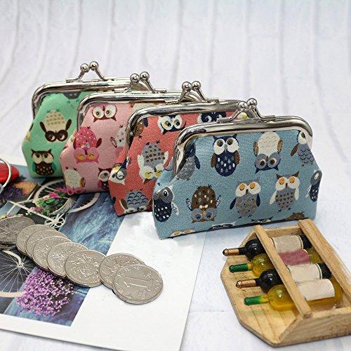 Hibou Femmes Porte Porte Porte Porte Femmes Pochette Portefeuille Monnaie Cartes Changement Portefeuille Monnaie de Petit Blue Monnaie YUYOUG qgxdAWUw