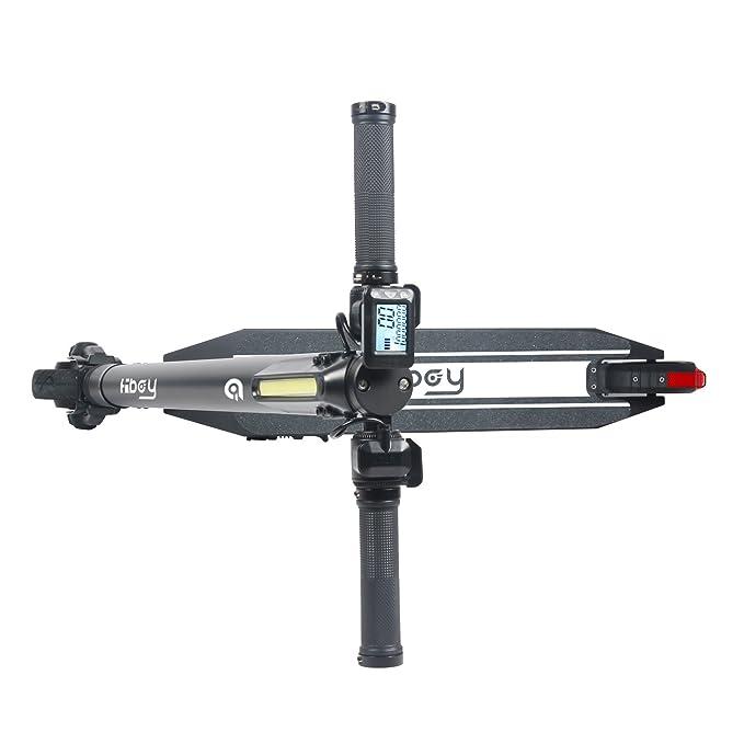 HBOY S8 Patinete - Scooter Eléctrico Plegable con Batería de Litio 250W, Unisex, 2 Ruedas, Diseño para Llevar Fácil, Negro