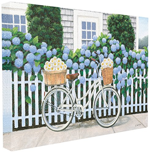 Stupell Industries Cape Cod Daisy Bike Oversized Stretched Canvas Wall Art, Proudly Made in ()