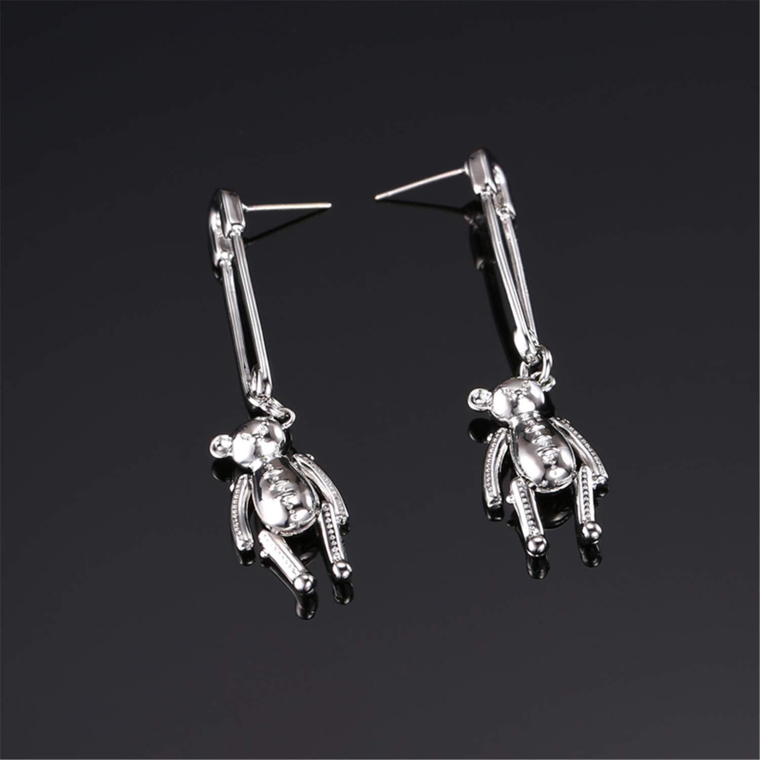 CLUB Designer New Silver Needle Cute Student Ear Jewelry Creative Personality Bear Ear Jewelry