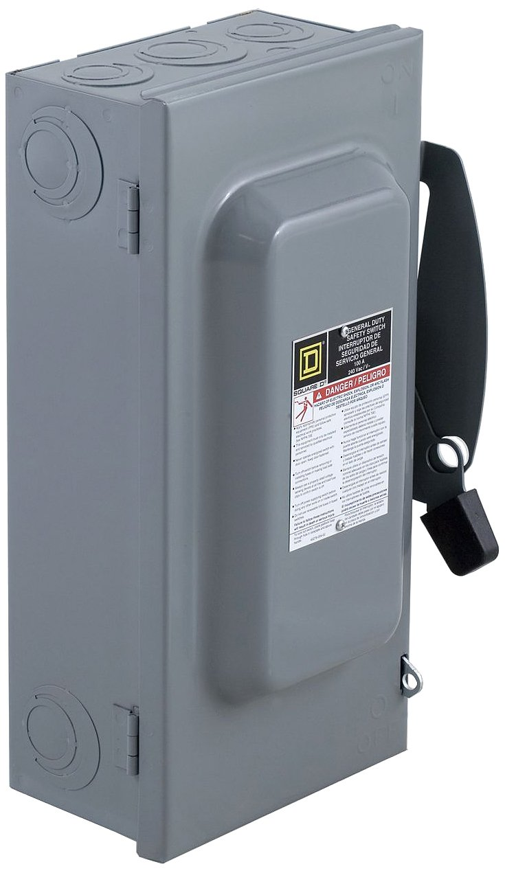 Square D by Schneider Electric DU323 100-Amp 240-Volt 3-Pole Non-Fusible Indoor General Duty Safety Switch, , by Square D by Schneider Electric