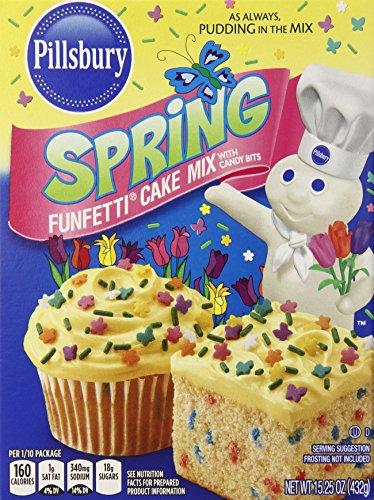 - Pillsbury Funfetti Spring Cake Mix, 15.25 Ounce