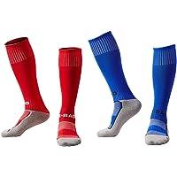 EQLEF Voetbalsokken voor kinderen, lange, comfortabele kindervoetbalsokken, ademend, stijlvolle voetbalsokken voor…