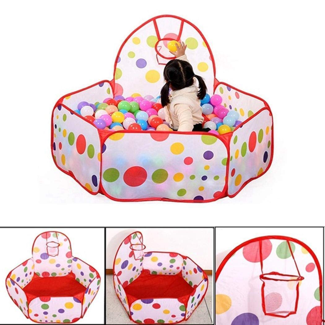 hhh Foldable Waterproof Ocean Ball Pool Outdoor Indoor Game Children Kids Toy Ball Pits & Accessories (120cm)