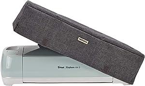 NICOGENA Dust Cover for Cricut Explore Air 2, Cricut Maker, 3 Pockets for Cricut Tools Accessories, Scratch-Resistant, Water-Resistance, Grey