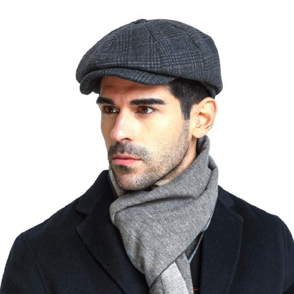 Gorras Planas Ajustables cl/ásicas con Espiga para Hombres y Mujeres ZYYIN Wool Blend Newsboy Cap