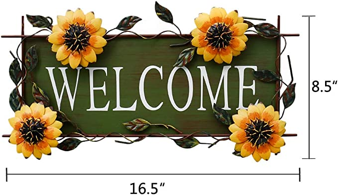 YK Decor Welcome amigo girasol pared arte: Amazon.es: Jardín
