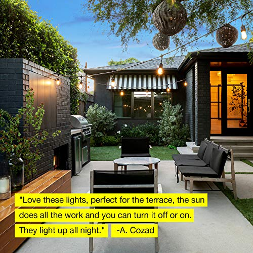 Brightech Ambience Pro -Waterproof Solar LED Outdoor String Lights - Hanging 1.5W Vintage Edison Bulbs 27 Ft Commercial Grade Patio Lights Create Bistro Ambience In Your Backyard, On Your Porch by Brightech (Image #8)
