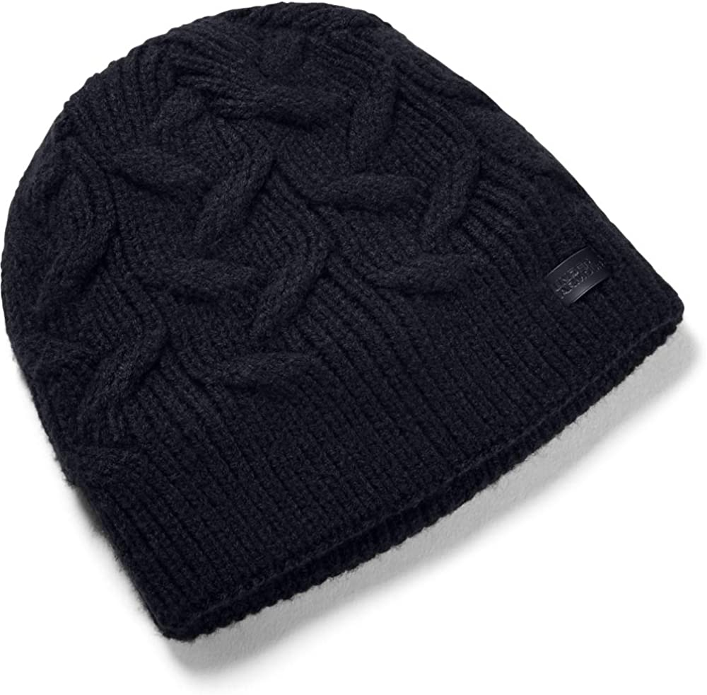 Under Armour Women's Around Town Beanie, Black (001)/Black, One Size Fits All : Clothing