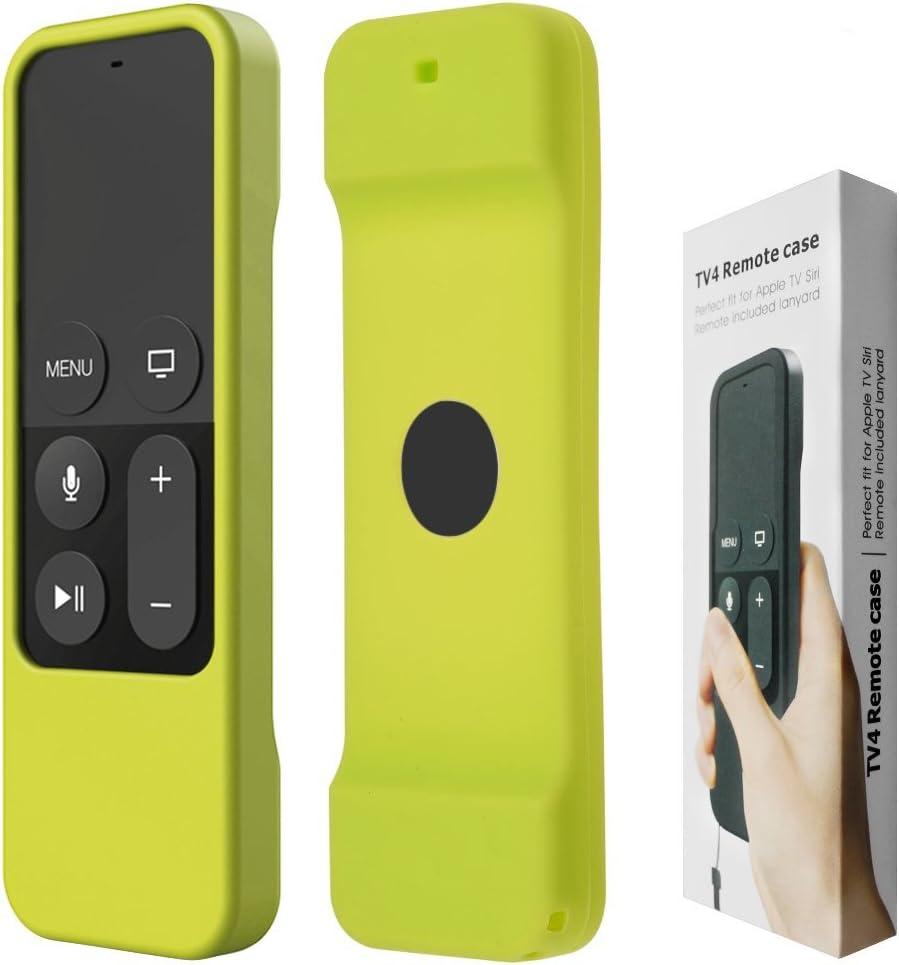 confezione da due custodie in silicone antiscivolo Custodia protettiva per telecomando Siri Remote per Apple TV 4K di quarta e quinta generazione