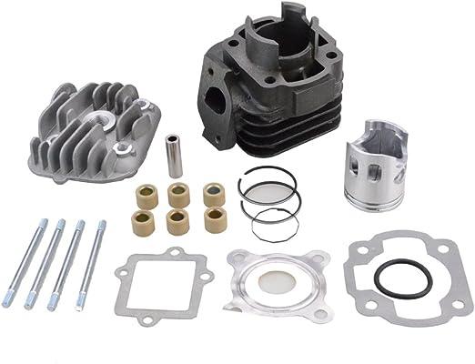 Kit de cilindro de aire kit de cilindro con anillos de pist/ón apto para motocicleta con motor de 2 tiempos Yama/_ha JOG 50CC 40 mm 70 80 cc