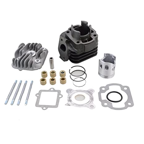 Amazon.com: GOOFIT Cylinder Kit with 10mm Piston for Yamaha Jog Zuma Vino 2 Stroke 50cc Scooter Minarelli 1E40QMB Engine: Automotive