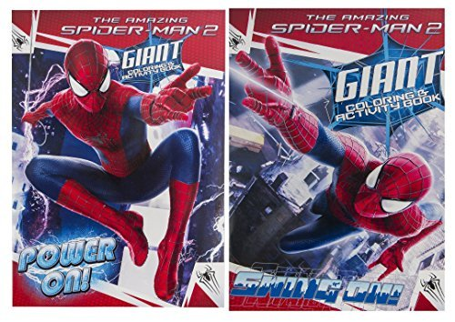 Marvel (2 Pack) The Amazing Spiderman 2 Giant Coloring & Activity Book Set Power On & Swing On