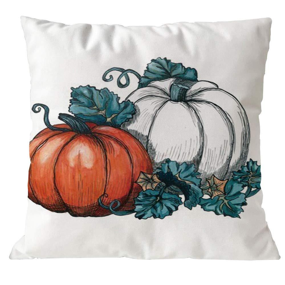JiaMeng Fundas De Cojines, Almohadas de Halloween Cubierta Decoración Funda de Almohada Sofá Cintura Throw Cushion: Amazon.es: Ropa y accesorios