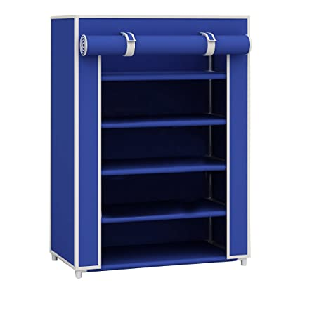 Amazon.com: Sunbeam Free Standing Shoe Rack (Navy Blue, 12 Pair ...