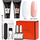 Modelones Poly Nail Gel Kit 30ml 2PCS With Slip Solution Extension Builder Enhancement Professional Starter Kit All-in…