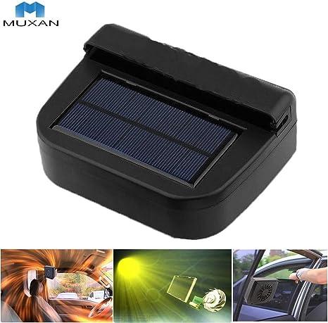 MUXAN Enfriador Solar del Coche Ventilador portátil Enfriador para ...