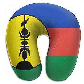 1d55ec8ac60a Amazon.com: ChunLei Comfortable Travel Pillow Flag Of New Caledonia ...