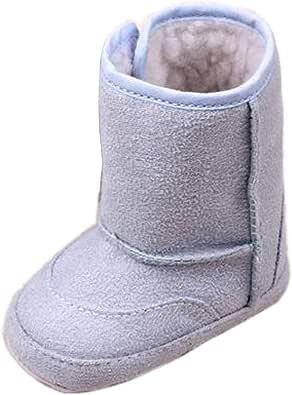 Kfnire Botas de Suela Blanda Antideslizante beb/é con Forro Polar 0-18 Meses Zapatos de beb/é de Invierno