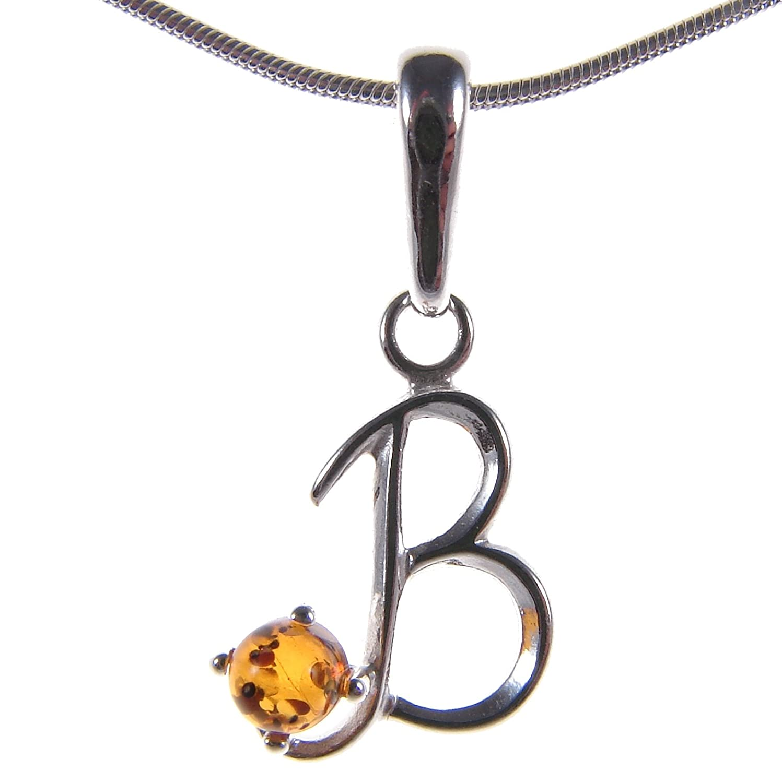 Damen-Anhänger 925/000 Sterlingsilber mit Bernstein (Ohne Kette) / Schmuck Cozmos Jewellery Pendant-P239