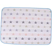 MagiDeal Baby Nappy Changing Mats Covers Newborn Waterproof Cotton Travel Home Change Pad - Star, 50x70cm