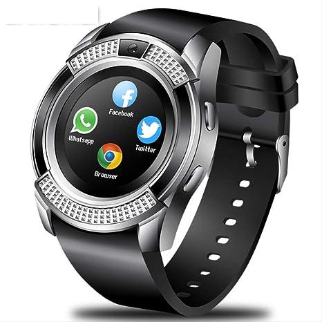 LFDYDSH Fitness Smart Watch Round Soporte SIM y Tarjeta TF con y ...