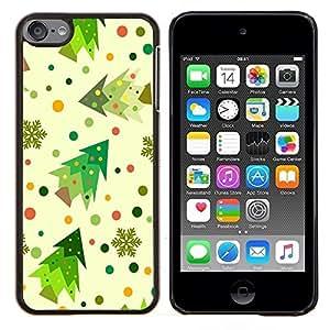 Dragon Case - FOR Apple iPod Touch 6 6th Generation - Colorful Christmas - Caja protectora de pl??stico duro de la cubierta Dise?¡Ào Slim Fit