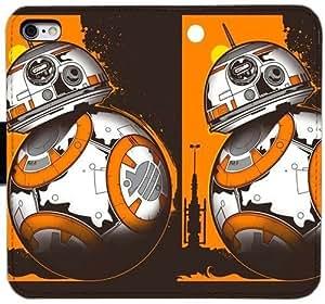 Generic Custom Flip Wallet Case,Star Wars The Force Awakens BB-8 Leather Case for iPhone 5 5S SE Black S-45133915