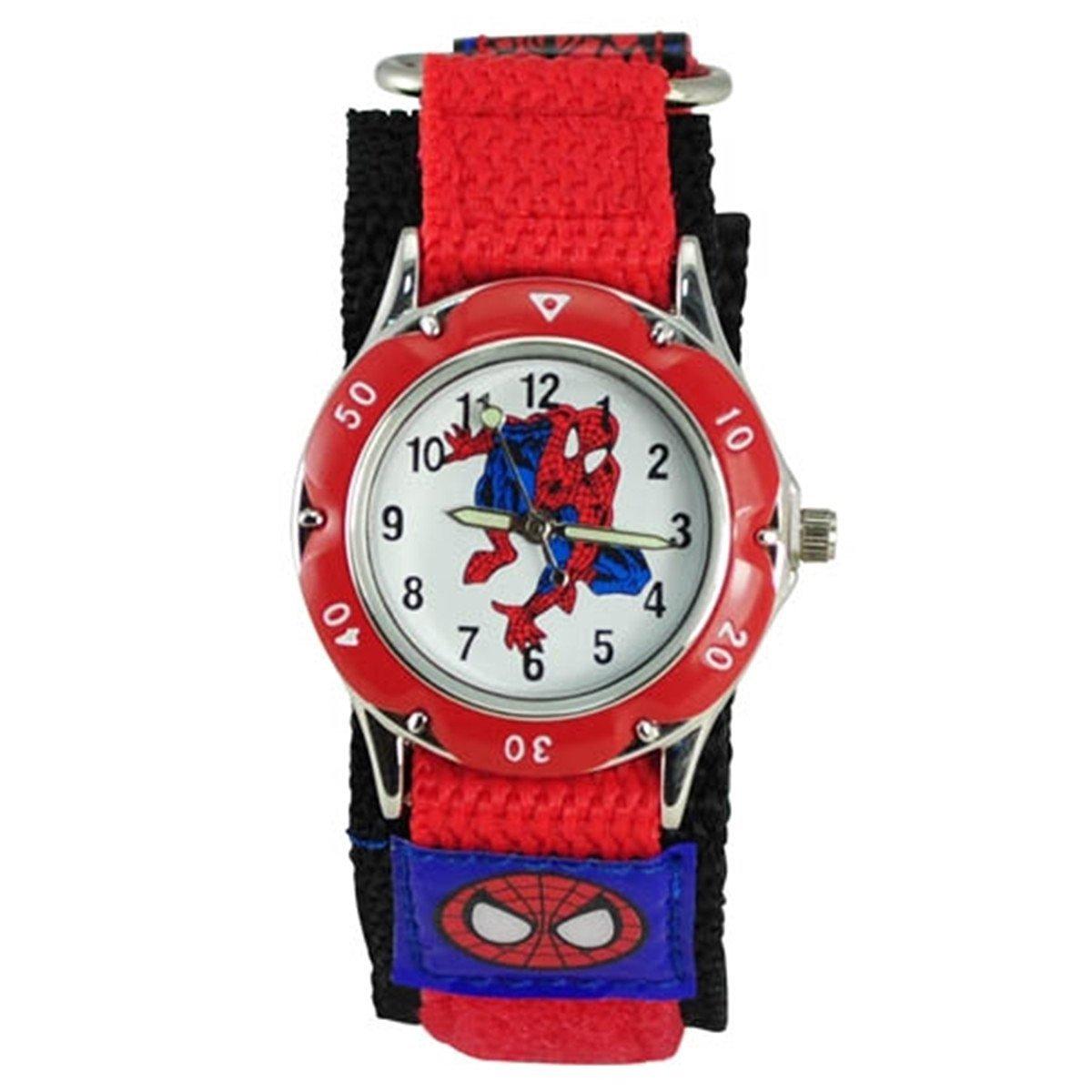Thalia Sagun - Reloj de muñeca Infantil con diseño de Spiderman (Resistente al Agua, Correa de Velcro): Amazon.es: Juguetes y juegos