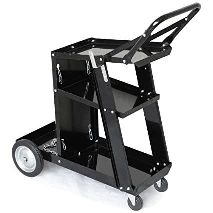 e823f55002818 Yaheetech 3-Tier Welding Cart MIG TIG ARC Plasma Cutter Welder Welding Cart  Universal W Tank Storage,176lbs Capacity Black - - Amazon.com