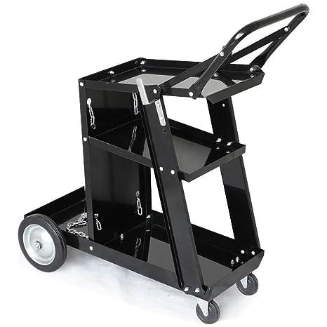 87cfb14c7e58 Yaheetech 3-Tier Welding Cart MIG TIG ARC Plasma Cutter Welder Welding Cart  Universal W/Tank Storage,176lbs Capacity Black