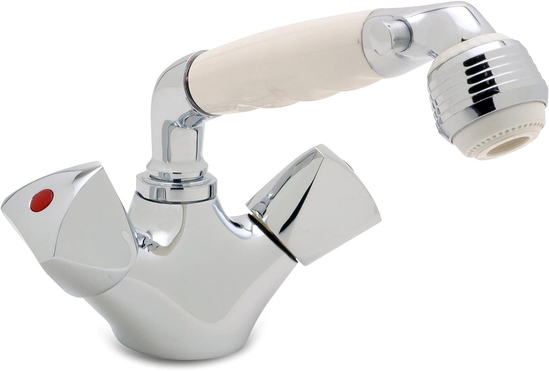 Head//Shower Combo Faucet Classic White Sprayer Ambassador Marine Trinidad