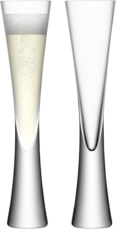 LSA International Moya Champagne Flute 5.7 fl oz /H9.75in Clear x 2