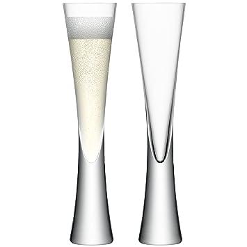 amazon com lsa international moya champagne flute 2 pack 5 7 fl