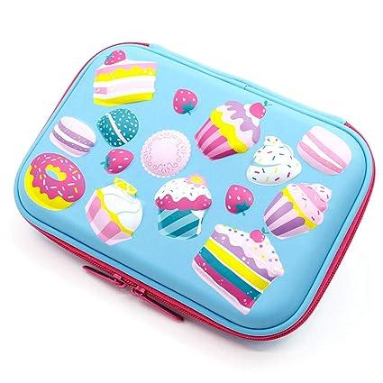 JBDQBH Estuche de papelería unicorn cake cake pencilcase ...