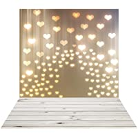 SJOLOON 5x7ft Valentine's Day Photographic Background woodboard Hearts Newborn Backdrop Photography photobooth Photo Studio 11368