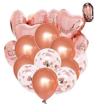 Tian Decoraciones de Globos de Oro Rosa Conjunto para Cumpleaños Bodas Baby Shower Decoraciones para Fiestas