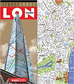 City Map Of England.Streetsmart London Map By Vandam City Center Street Map Of London