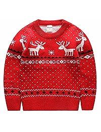 Moyishi Children's Fireplace Lovely Sweater for Christmas Best Gift